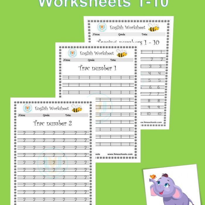 Number Tracing Worksheets 1-10