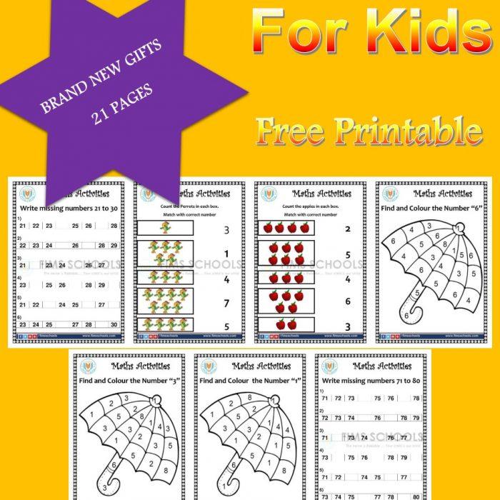 Math Activities for Pre School