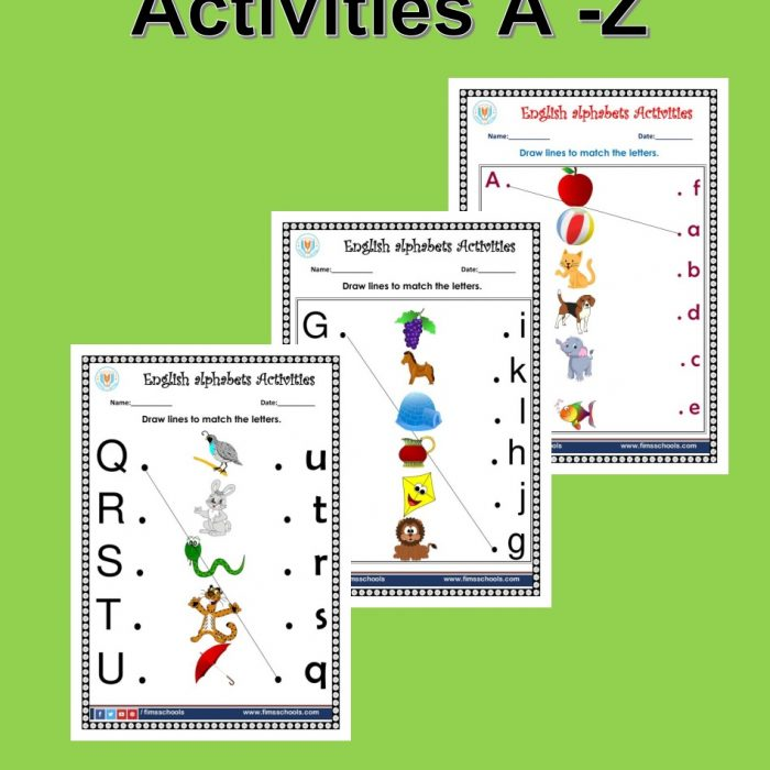 English Match the letters A-Z Activities