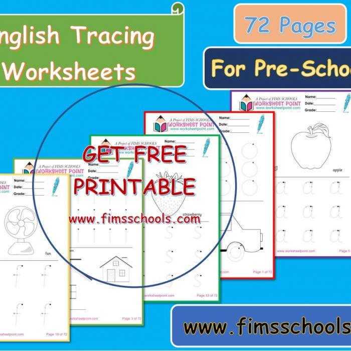 English Alphabet worksheets