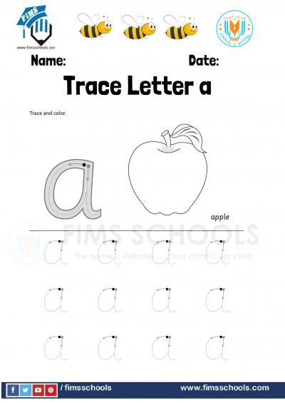 Fims Trace Letter a- 4-1